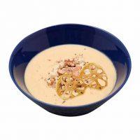■今月のテーマのスープ■くるみと根菜のポタージュ(レンコンチップス)