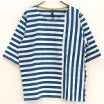 TI7233 ボーダー×ストライプワイド袖Tシャツ 1,900円