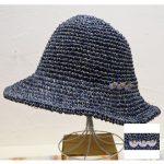PY7133 鳥とミモザ刺繍ブローチ付帽子 2,900円
