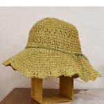 PY7203 透かし編み柄入りつば広ハット 2,400円