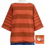 S57175 ロールアップボーダーワイドTシャツ 3,400円