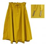 SJ7535 イレギュラーヘムギャザースカート 5,900円