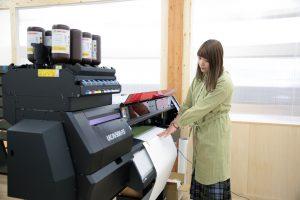 専用の大型印刷機も導入!