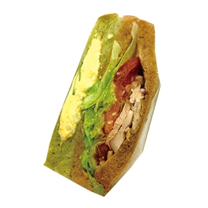 【テーマのパン】グリーンサラダサンド255円