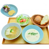 2種のあったかスープセット800円[税込]※自家製ミニデザート・ドリンク付 ¥1,100