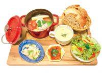 北欧ココット定食1,500円(税込)おまかせココット・選べるミニスープ・2種のデリ・ミニサラダ・パン