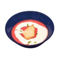 ■テーマのスープ■ビーツのポタージュ北欧の定番野菜・ビーツを使った色鮮やかで栄養豊富なポタージュ。なめらかなクリームで仕上げたクリスマスらしいひと品です。