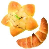 ■テーマのパン■三日月とお星様のパンセットで160円