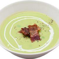 ■MORI NOTEのスープ■カリカリベーコンと新緑の豆のスープ