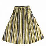 TJ8163 マルチストライプスカート 3,900円
