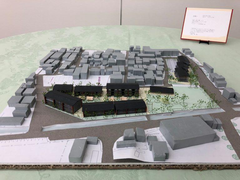 公営住宅および公園・テナント建築模型