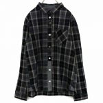 TD8662 前立パッチワークチェックシャツ 4,900円