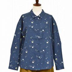 PP8650 星と惑星柄ワイドシャツ 3,900円