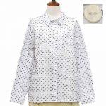 PZ8719 ドットビーパレット刺繍入りシャツ 3,900円