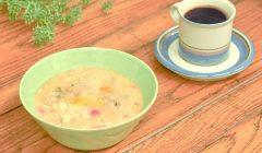 鶏つくねと野菜の豆乳スープ