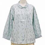 PP9217 ハーブ&野菜総柄プリントワイド巾シャツ 3,900円