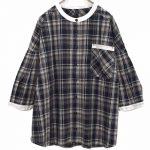 TD9318 ノーカラーファーマーズシャツ 3,900円