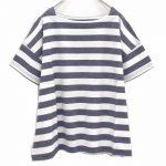 TU9368 撚り杢ボーダーワイドTシャツ 3,400円