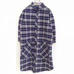 TD9472 チェックワークポケットシャツワンピース 4,900円