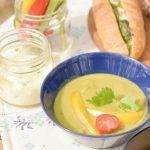 グリーンカレーのスープ