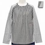 PF9629 異素材切替衿フリルプルオーバー 2,900円