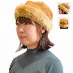 PP9726 ファー付きベレー帽 2,900円