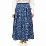 SL9889 フラワープリントタックギャザースカート 5,900円