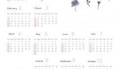 2020梅春カレンダー(リラシク)