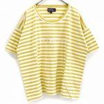 TQ0326 ロゴptボーダーTシャツ 2,900円