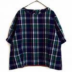 TJ0434 コクーンチェックシャツ 3,400円