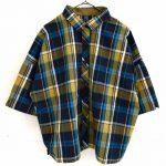 TJ0433 ワイドチェックシャツ 3,900円